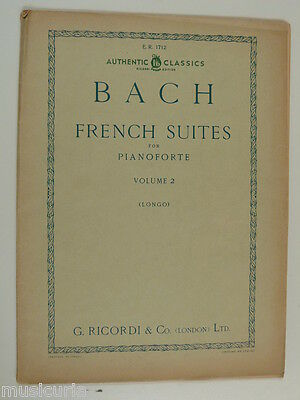 longo piano BACH french suites 4-6 ricordi