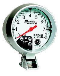 Speco-meter-White-Dial-Shift-Light-Tacho-3-3-4-034