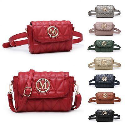 Ladies Quilted Festival Bum Bag Belt Bag Cross Body Shoulder Bag Handbag MA36210