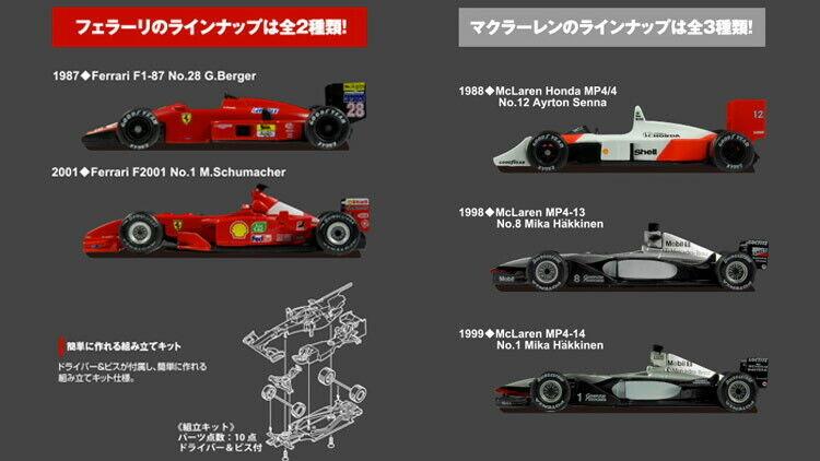 KYOSHO 1 64 FERRARI F1-87 F2001 MCLAREN HONDA MP4 4 5 setformula F1 Suzuka Legend
