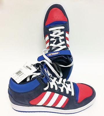 Détails sur Neuf Adidas Decade mi Rouge + Bleu+Blanc + Gris Femme Chaussures,Basket,Q20675