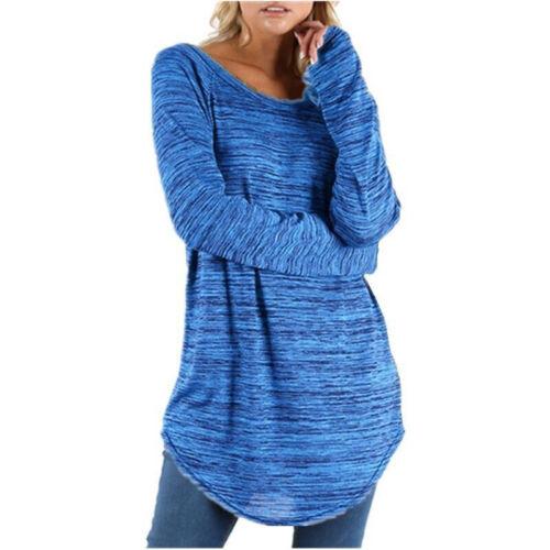 Women Casual Long Sleeve Tunic T-Shirt Baggy Loose Pullover Sweatshirt Plus Size