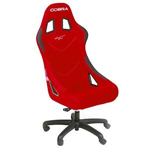 Cobra monaco sport racing office chair seat in red ebay - Silla racing sports ...