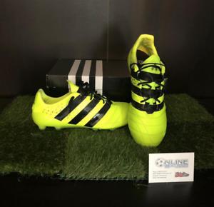 Adidas ACE 16.1 FG AG Cuero-Solar Amarillo Core Negro US 8.5,
