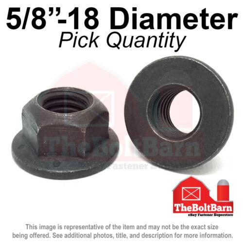"Pick Quantity G 5//8/""-18 Grade 8 Hex Flange Top Lock Nuts FINE Phos /& Oil"