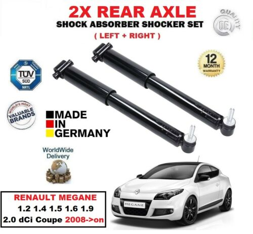 FOR RENAULT MEGANE 1.2 1.4 1.5 1.6 1.9 2.0 Coupe 2008-/> REAR SHOCK ABSORBERS SET
