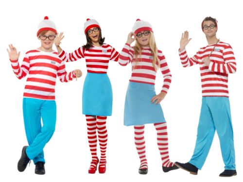 Where/'s Wally Wenda Adult Boys Girls Licensed Fancy Dress Costume World Book Day