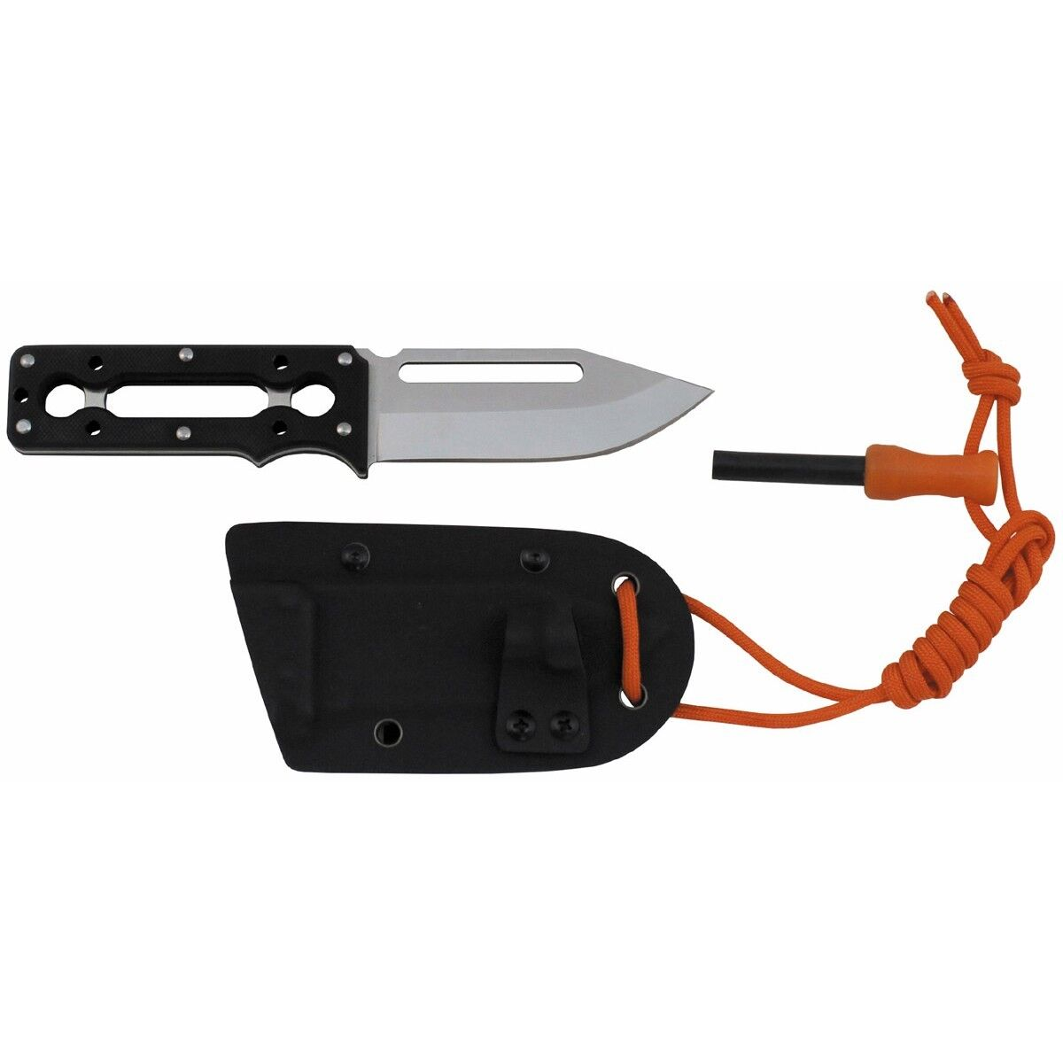 MFH Feststehendes Taschenmesser Taschenmesser Taschenmesser Outlive mit Scheide & Feuerstarter 19cm 279f85