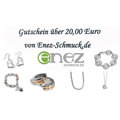 20,00 Euro Schmuck Ohrringe Ketten Gutschein Geschenkkarte Geschenkgutschein
