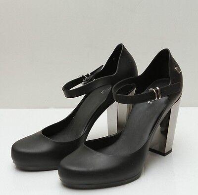 Strap Chrome Chunky Heel Shoe