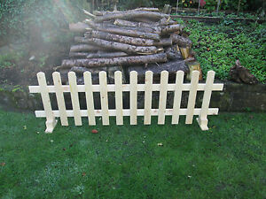 Details about Wooden Free Standing Garden Picket Fence Panels 6ftx2ft  Planed Smooth Timber