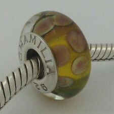 Authentic Chamilia Sunrise Sunset (A) Murano Glass Retired Bead Charm, O-91