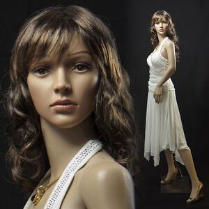 sf 4 eurotondisplay mannequin de vitrine avec 2 perruque gratuit femelle mobile ebay. Black Bedroom Furniture Sets. Home Design Ideas