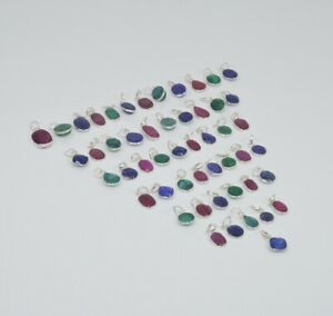 WHOLESALE-51PC-925-SILVER-PLATED-CUT-RUBY-AND-MIX-STONE-PENDANT-LOT-Tk171