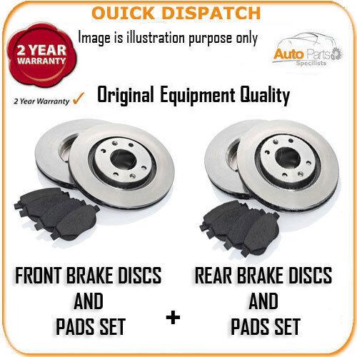6215 FRONT AND REAR BRAKE DISCS AND PADS FOR HONDA CR-V 2.0I-VTEC 1//2002-3//2007