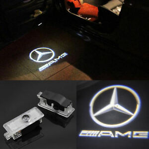 2pcs benz amg logo led laser projector door light for for Mercedes benz door lights