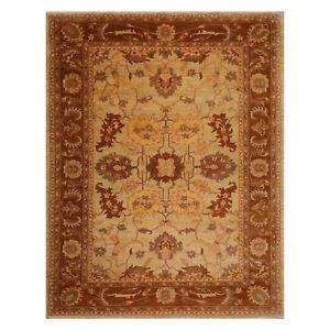 8 3 X11 4 Hand Knotted Wool Stone Wash Peshawar Vegetable Dye Area Rug Beige Tan Ebay