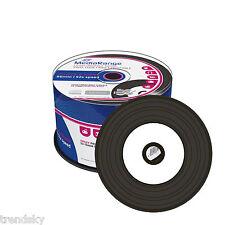 MR226] 50 x Mediarange CD-R vinyl printable, black dye Bedruckbar 52x Rohling
