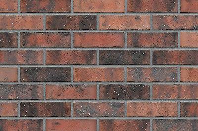 Fassade Treu Strangpress Klinker-riemchen Wdf-format Rotbunt Kohlebrand Riemchen Verblender