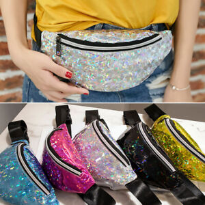 Womens-Ladies-Laser-Bum-Bag-Waist-Fanny-Pack-Holiday-Travel-Wallet-Money-Belt