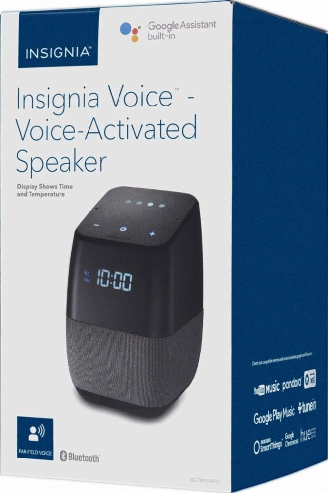 BRAND NEW Insignia blueetooth Speaker with Google Assistant built-in and LED