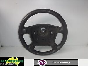 GENUINE-FORD-FALCON-BF-FAIRMONT-GREY-LEATHER-STEERING-WHEEL