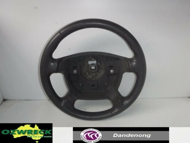 GENUINE FORD FALCON BF FAIRMONT GREY LEATHER STEERING WHEEL