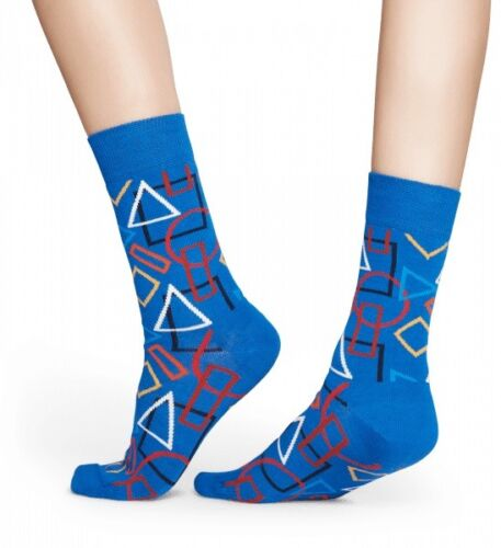 Dreiecke Socken Geometric Socks 41-46 Kreise blau bunt Happy Socks 36-40