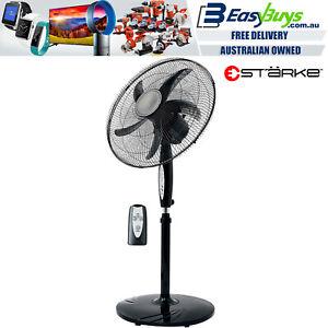 Pedestal-Fan-50cm-Black-3-Speed-with-Remote-Tilt-amp-Oscillating-Height-amp-Timer