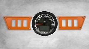 Rocker Switch Dash Panel Plates Custom for Polaris RZR XP 1000 Orange
