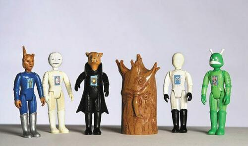Lot de 6 UZAMA les monstres de Winnipeg Folklore cardées figures cerealart