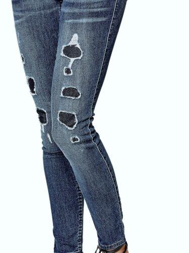 Waterfront Wash vita di a Guess Water skinny bassa Jeans con Sz Donna 27 bassa vestibilità Destroy Og5Tx