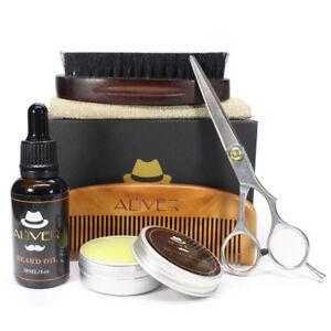 Best Grooming Kit 6pc Set Beard Oil Beard Wax Comb Brush