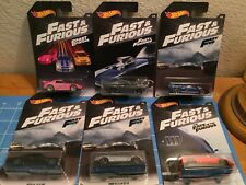 2018 Hot Wheels Fast and Furious Set of 6