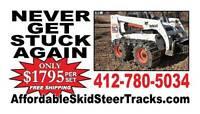 Over The Tire Skid Steer Steel Tracks 10 For Bobcat, Case, Gehl, Cat, Jd