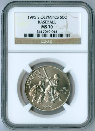 1995 S Atlanta Olympics Baseball Half Dollar Commemorative Coin NGC MS 70 MS70