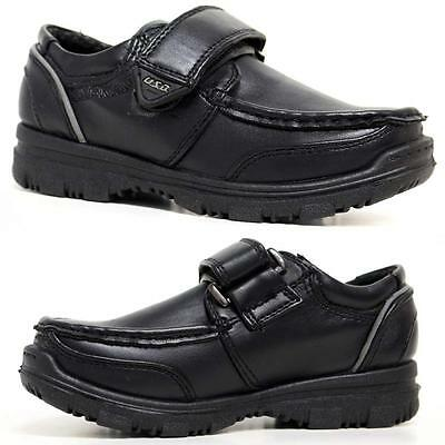 Boys School Shoes Kids Smart Dress Formal Wedding Black Back To School Shoe Size