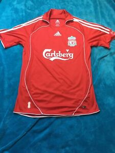 Liverpool T Shirt Carlsberg Adidas Size M Authentic Original Game Match Holiday