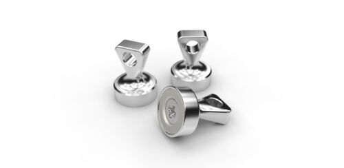 Griffmagnet Notenständer Magnet Designmagnet Edelstahl Magnet Ösenmagnet 140N17