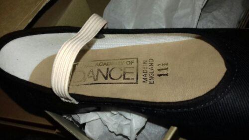Brand new katz RAD dance shoes canvas low heel syllabus size 13.5  boxed black