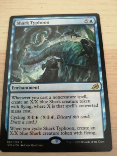 Lair of Behemoths NM Shark Typhoon Foil MTG Ikoria English