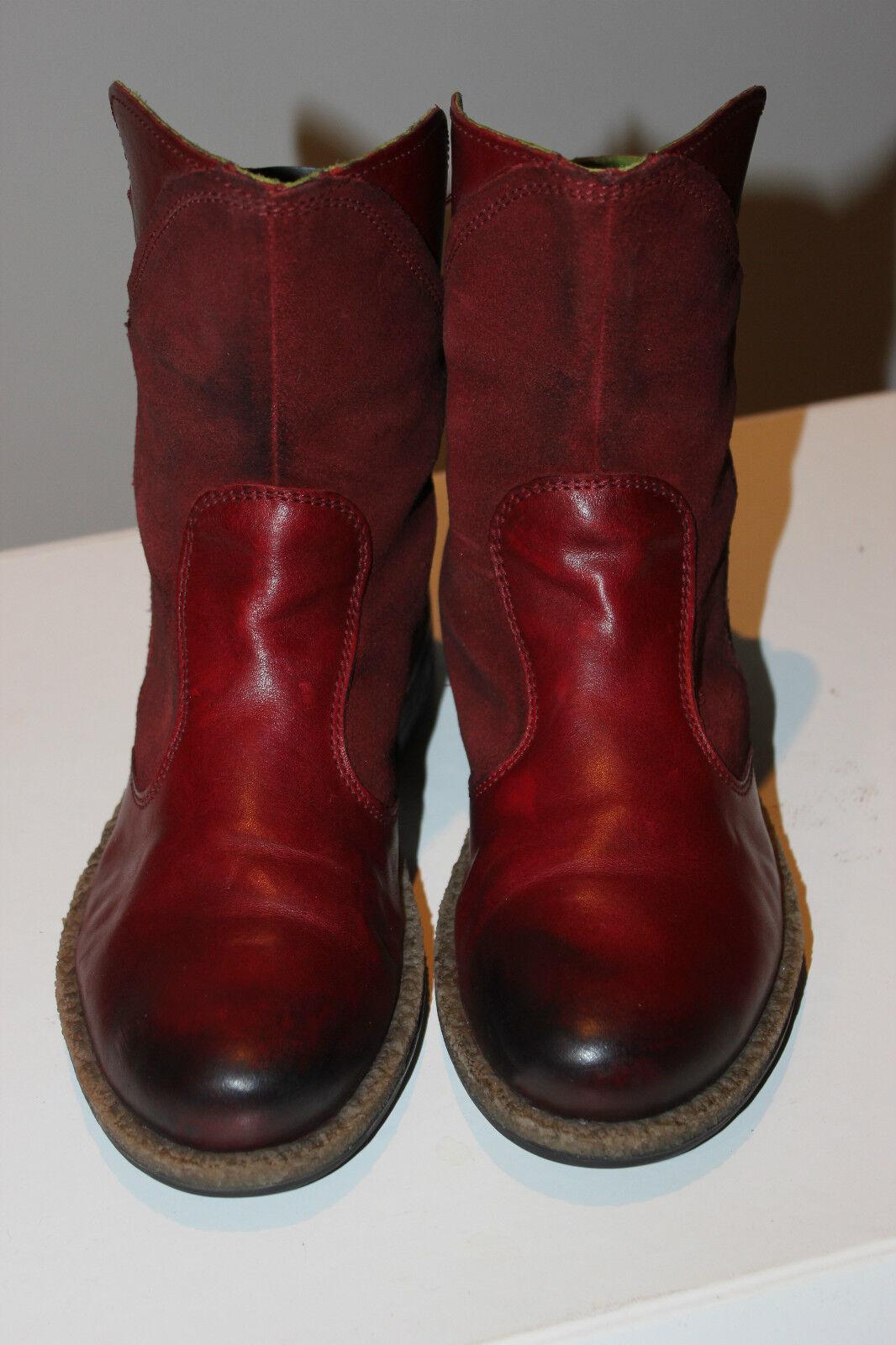 Snipe stivali, super bel rosso vera pelle Biker stivali, Snipe stivali, stivali ... f816b8