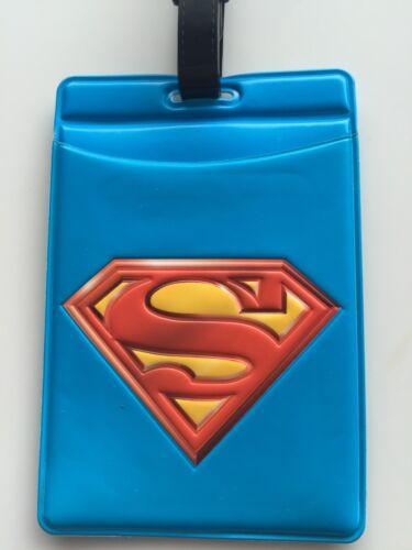 Kids Children boy s Symbol Superman Travel Luggage School bag Name ID Badge Tag