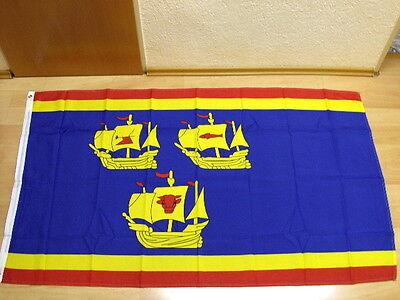 Fahne Flagge mit 2 Ösen 90 x 150 cm Nordfriesland 3 Koggen