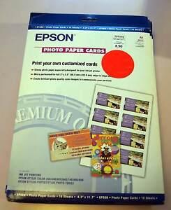 Epson Photo Papier Cartes 8 De Visite