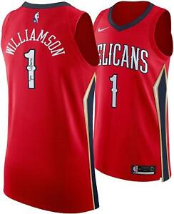 Zion-Williamson-New-Orleans-Pelicans-Autographed-Nike-Red-Authentic-Jersey