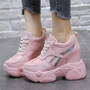 Women Platform Wedge Sneakers High