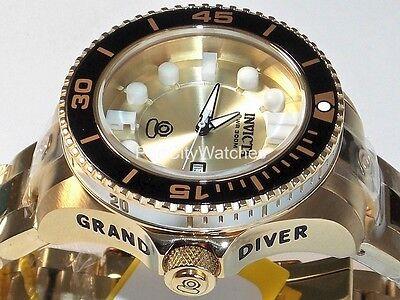 Invicta Women's 38mm Grand Diver Gen II Gold Tone Stainless Steel Watch 19823