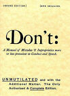 Don't: Manual of Mistakes and Improprieties More or Less Prevalent in Conduct and Speech by Pryor Publications (Paperback, 1982)