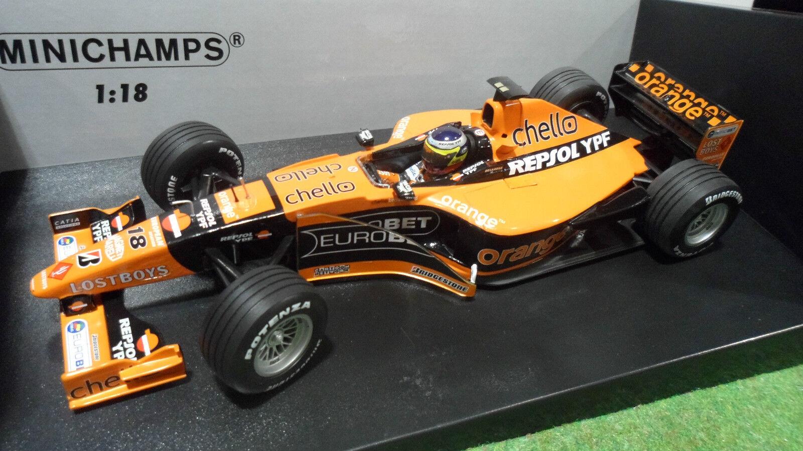 F1  ARROWS SUPERTEC A21  18 P. DE LA rose au 1 18 MINICHAMPS 180000018 formule 1